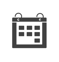 Office calendar reminder meeting date supply vector