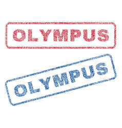 Olympus textile stamps vector