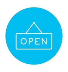 Open sign line icon vector