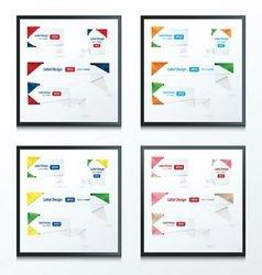 Origami label design set 4 style vector image