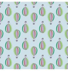 pattern with aerostat elements vector image