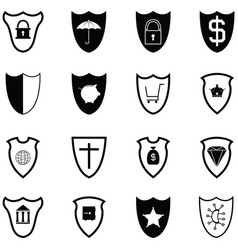 protection icon set vector image
