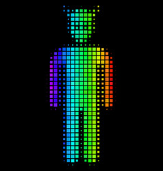 Rainbow dotted daemon icon vector