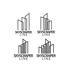 real estate skyscraper logo icon graphic design vector image