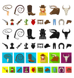 Rodeo competition cartoon icons in set collection vector