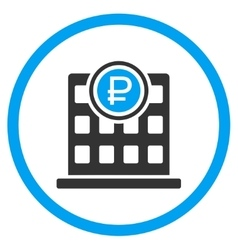 Rouble Bank Office Icon vector