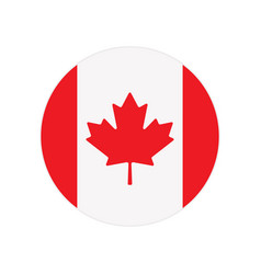 round button with canada flag isolated on white vector image
