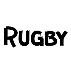 Rugby label on white vector