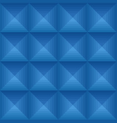 seamless blue ethno pattern with squares vector image
