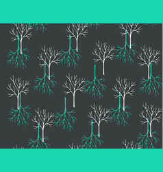 Seamless pattern with winter forest art vector