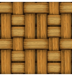 Seamless wicker background vector