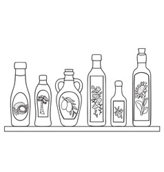Set of natural oils vector