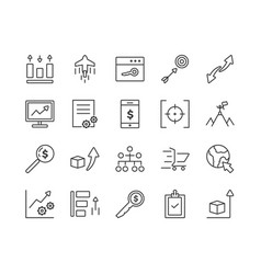 set seo icon template vector image