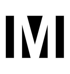 simple elegant logo letter m premium vector image