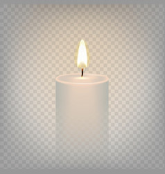 stock realistic candle flame vector image