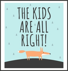 Stylish children poster with quote vector