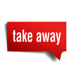 take away red 3d speech bubble vector image