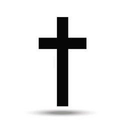 the cross - a symbol of the christian religion vector image