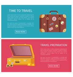 time to travel web page set vector image