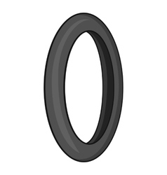 Tire for bicycle icon gray monochrome style vector image