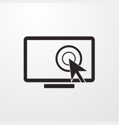 Touch display mouse cursor sign icon vector