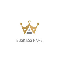 triangle crown company logo vector image