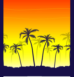 tropical summer print with palm vector image