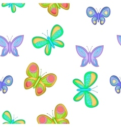 Types of butterflies pattern cartoon style vector