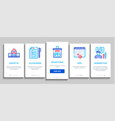 Voting and election onboarding set vector
