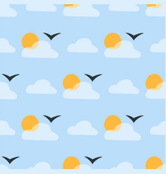weather seamless pattern cloud sky vector image