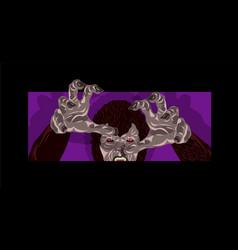 werewolf costume design reaching vector image