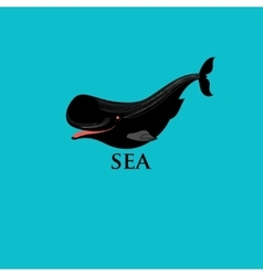 Whales and marine fish vector