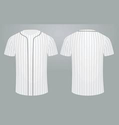 white baseball shirt vector image