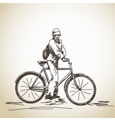 Woman cyclist vector