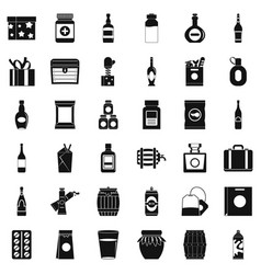 Wrapping icons set simple style vector