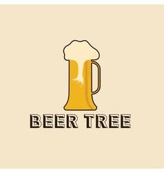 beer tree concept design template vector image