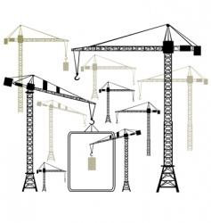 cranes silhouettes vector image vector image