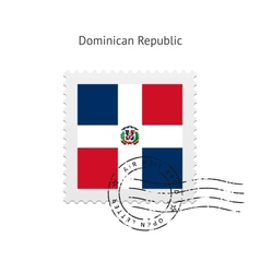 Dominican Republic Flag Postage Stamp vector image