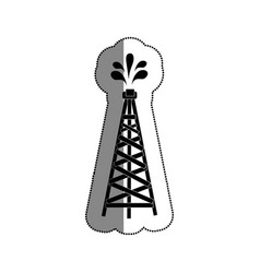fuel tower isolated icon vector image