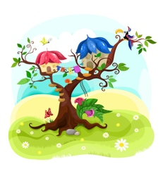 magic tree vector image vector image
