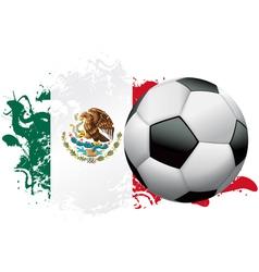 Mexico Soccer Grunge Design vector image