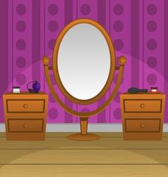 Retro Mirror vector image