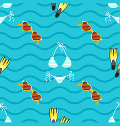 seamless summer colorful pattern vector image vector image