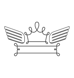silhouette with heraldic crown simbol vector image