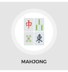 Mahjong flat icon vector