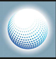 set abstract halftone 3d spheres 14 vector image vector image