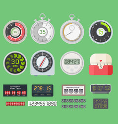 Timer clocks watch symbol hour stopwatch vector