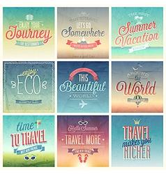 travel set vintage vector image