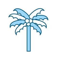 cute blue beach palm cartoon vector image vector image