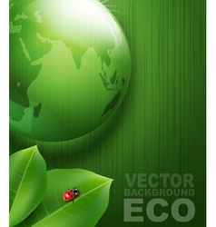 Green background on environmental issues vector image